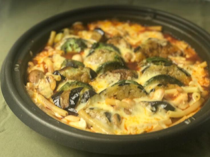 加茂ナスとアボカドのチーズオーブン焼き