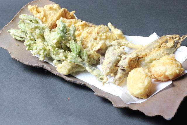 筍山菜天ぷら